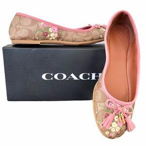 Coach Signature Benni Floral Ballet Flats (7.5)